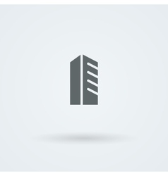Schematic minimalist icon skyscraper high-rise vector