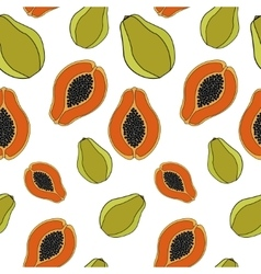 Papaya seamless pattern vector