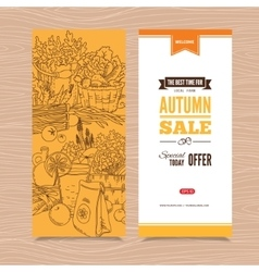 Banner with autumn harvest vector