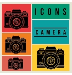 Camera icons design vector