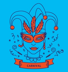 CARNIVAL COSTUME OUTFIT vector image