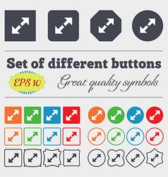 Full screen icon sign big set of colorful diverse vector