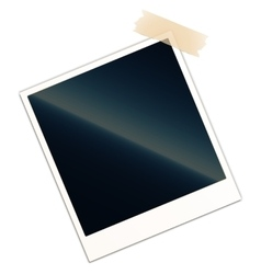 Blank photo frame with piece of tape vector