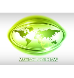 world abstract circle on white green vector image