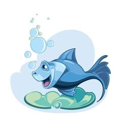 Blue fish vector