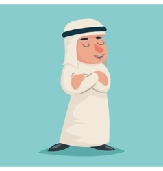 Smiling talking arab businessman wise character vector