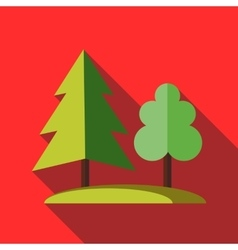 Forest tree icon in flat style vector