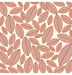 A seamless pattern with leaves vector image vector image