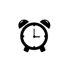 alarm clock icon single high quality outline vector image vector image