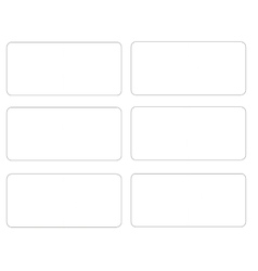 Blank template puzzle A vector image vector image