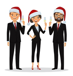 Business people congratulate you on Christmas vector image vector image