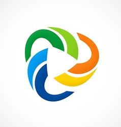 Circular color social media logo vector