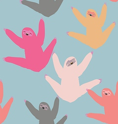 Cute pattern with sloths vector