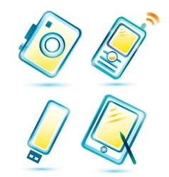 digital icons vector image