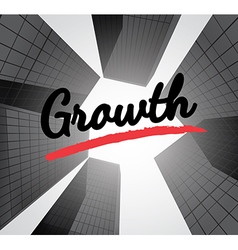 Growth concept with abstract background vector image vector image