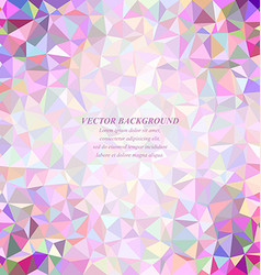 Happy colorful abstract tiled triangle background vector