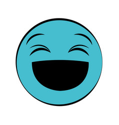 Happy emoticon icon vector
