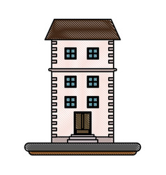 home building tower vector image