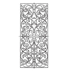 Ivory inlay oblong panel was designed by hans vector
