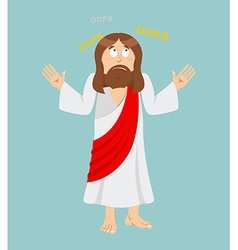 Jesus Christ Surprised Jesus Perplexed Jesus of vector image vector image