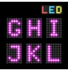 LED font vector image