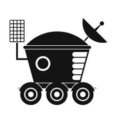 Moonwalker black simple icon vector
