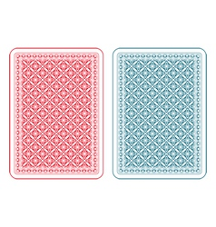 Playing cards back gamma vector image