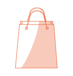 Red silhouette shading image cartoon bag for vector