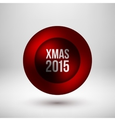 Red Xmas Bubble Badge vector image vector image
