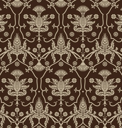 Seamless background with beige ornaments vector image vector image