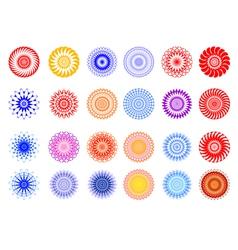 set of ornament design elements vector image