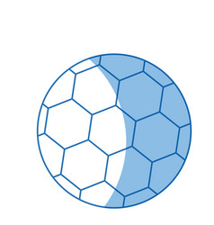 Soccer ball for brazil sport champion vector