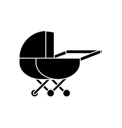 stroller icon sign o vector image vector image