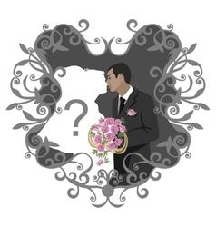 Wedding couple 11 vector image