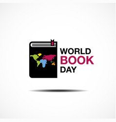 World book and copyright day logo icon design vector