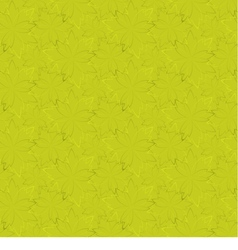 yellow seamless wallpaper with floral pattern vector image vector image