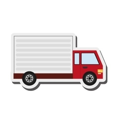 Delivery cargo truck icon vector