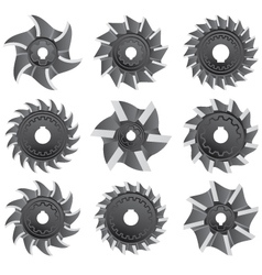 Milling cutters for metal vector image