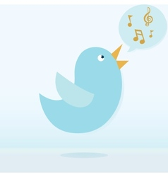 Twitter bird singing vector