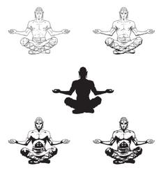 yoga men in a lotus position vector image