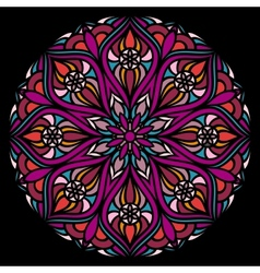 Colorful ornamental round lace vector image