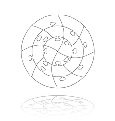 Concentric jigsaw puzzle vector image