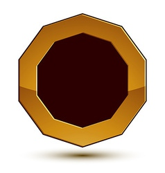 Heraldic 3d glossy icon can be used in web and vector