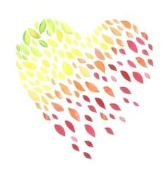 lovely autunm heart vector image