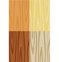 Wooden texture set vector image