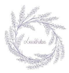 floral hand-drawn garland vector image