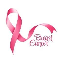 Breast cancer awareness ribbon background vector