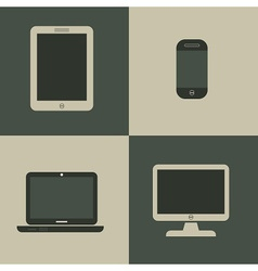 Set of media device icons vector