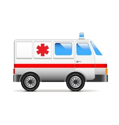 Ambulance isolated on white vector