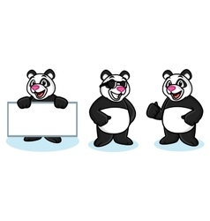 Panda mascot happy vector